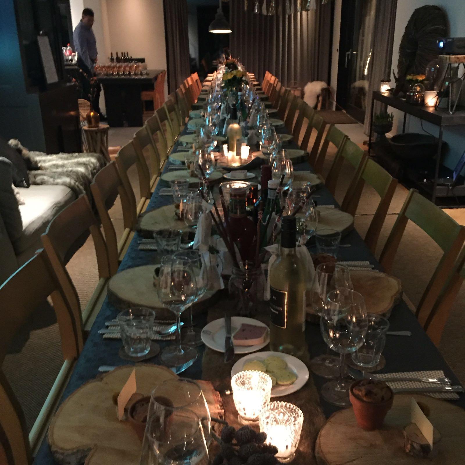 Wijn tafel